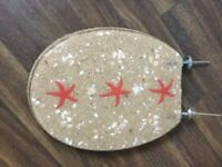 Acrylic toilet seat with seashells and sand FREE
