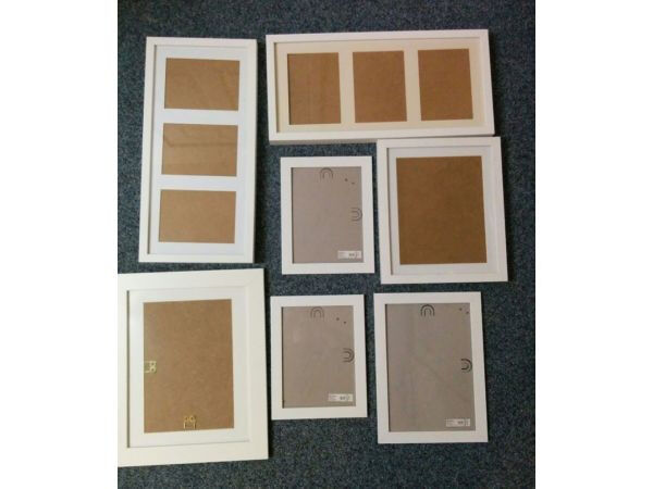 SIX (6) IKEA picture frames for15 ONLYin Colchester, EssexGumtree - SIX (6) IKEA picture frames for £15 ONLY Six IKEA stylish picture frames for a bargain price.. In very good condition.. Frame size / Photo Size 52cm23cm / 12cm17cm takes three photos (1x) 21cm27cm / 16,5cm22cm (2x) 20cm25cm / 19cm24cm (1x) 28cm33cm...
