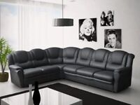 PAY WEEKLY/ MONTHLY TEXAS CORNER OR 3+2 SEATER SOFA LEATHER OR FABRIC £23 PER WEEK/65