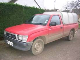 Toyota Hilux 2.4 4x2 (2 wheel drive) pick up with Ifor Williams canopy