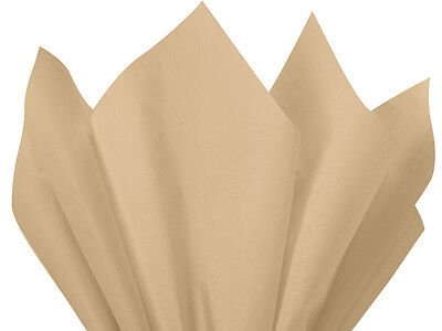 """NATURAL BEIGE Tissue Paper for Gift Wrapping 15""""x20"""" Sheets"""