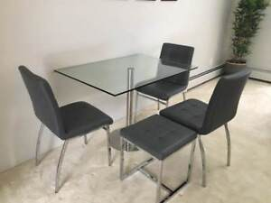 Glass Table & Chairs (By Briers Home Furniture in Kits!)