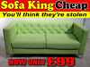The AGNES LARGE SOFA -  Now Only £99 – SOFA KING QUICK DELIVERY FROM STOCK Paisley,renfrew,ayrshire, Glasgow