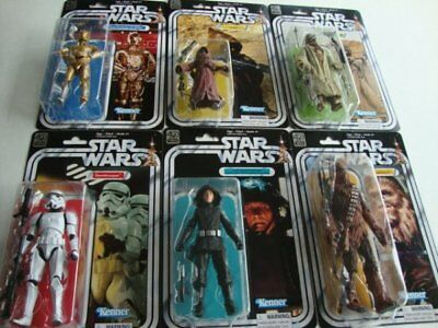 STAR WARS Black Series 40th Anniversary Wave 2 Complete Set of 6 Figures - NEW