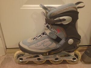 Women's Size 8 Roller Blades with Guards $40
