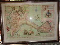map of formentera in a frame