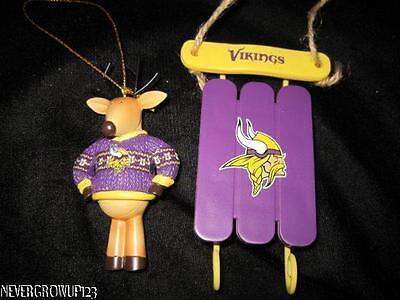 Vikings Ornaments (NFL~MINNESOTA VIKINGS TEAM LOGO ORNAMENTS~2)