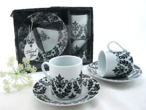 Espresso Coffee Cup and Saucer Set – Great Gift or Present Descr
