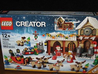 Lego   10245 Santas Santas Workshop 883 Pc 6 Minifigures Holiday Creator Santa