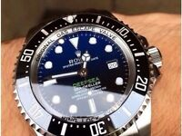 Rolex Deepsea Blue edition with heavy glidelock bracelet