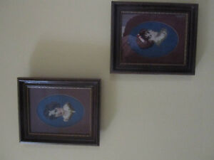 Two Framed Antique Needlepoints