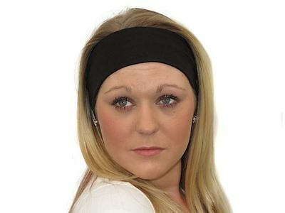 Wide Black Sports Dance Gym Training Headband Hair Band Bandeau