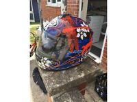 Aria motorcycle helmet