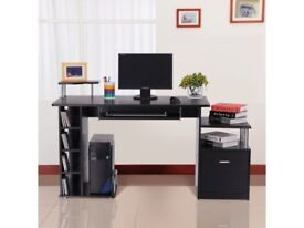 Wooden Office and Home Work Desk with Storage AV