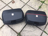 Givi panniers and givi rack