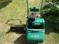 Qualcast Classic 35s Petrol engined mower with scarifier attachment