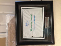 LPGA Flag signed by Brittany Lang