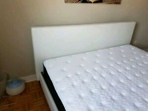 White and Grey King Size Mattress, BEDFRAME & HEADBOARD NOT INCL