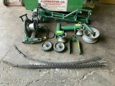 Greenlee 640 Power Wire Cable Puller W Gang Box  Tugger Chugger