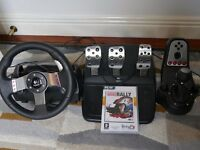 Gaming Steering Wheel Logitech G27 amazing conditions