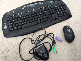Logitech wireless keyboard and mouse complete with receiver