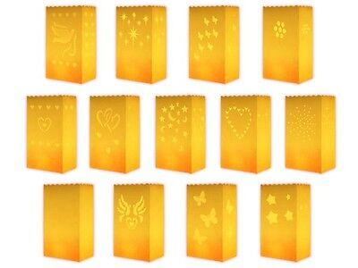 ttüten Gelb Candle Bag Teelicht Tischdeko Hochzeits-Deko NEU (Gelbe Laternen)