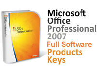 GENUINE Microsoft Office 2007 Professional WITH 5 Licence Key