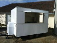 10 x 6 box trailer used as a mobile catering unit burger van, single axle