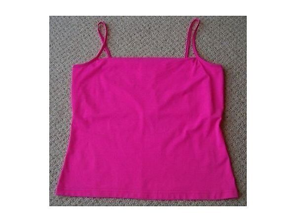 4df731098eff3 Women's Clothing Hot Pink Cami Top with Hidden Bust Support Size 14 BNWT