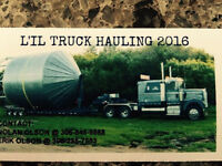 Grain bin moving/hauling and pilot truck service