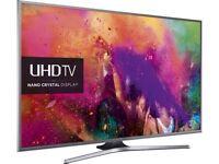 "50"" Smart Ultra HD 4k LED TV. SAMSUNG UE50JU6800 tiny mark on bezel"
