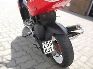 support pour plaque d 39 immatriculation lat rale pour sachs scooter speedforce 50 ebay. Black Bedroom Furniture Sets. Home Design Ideas