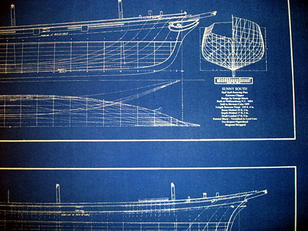 Ships Half Hull Model Blueprint Plans 1854 20x28 (279)