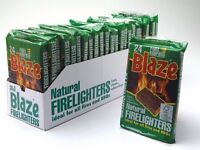 10 Packets of Blaze Natural Firelighters - 10 Packets with 24 Cubes per Packet - 240 Cubes in Total