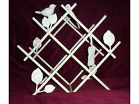 NEW! Vintage White Love Bird Wine Rack ~ Weddings ~ BARGAIN!