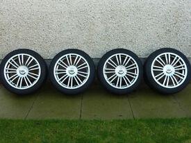 "Team dynamic alloys 17"" savage rotas pro race 1 Falken ZE912 4x100PCD 4 x 100 Alloys Tyres Wheels"