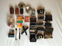 Collection of classic retro cameras