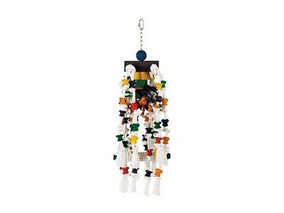 Living World Jumbo Rope with Wood Block & Bead Cascade Big Bird Toy