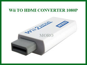 Wii To HDMI/DVI +3.5mm Audio Converter for NTCS 480i/p PAL 576i HDMI No loss