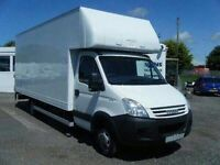 CHEAP DAY & NIGHT HOUSE REMOVALS MAN AND VAN HIRE LUTON VAN WITH TAILLIFT PIANO BIKE DELIVERY