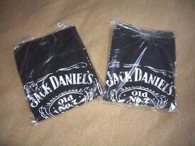 Jack Daniels Old no7 black T-shirts x2 in size Medium
