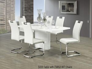 FABULOUS,COMFY& AMAZING PRICE white Dining table & 6 Chair