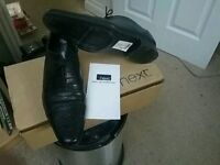 WORN ONCE BLACK FORMAL SIZE 8 NEXT SHOES/COST £30 ACCEPT £15