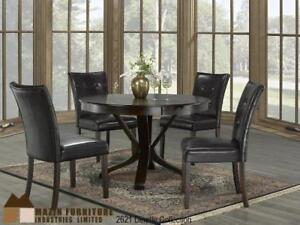 Tulip pedestal base Dining Table with tufted chairs (MA688)