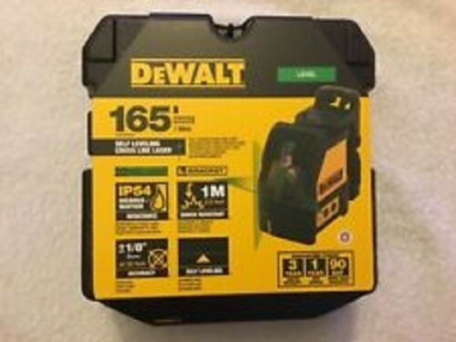 NEW DEWALT DW088CG SELF LEVELING CROSS LINE LASER LEVEL 165