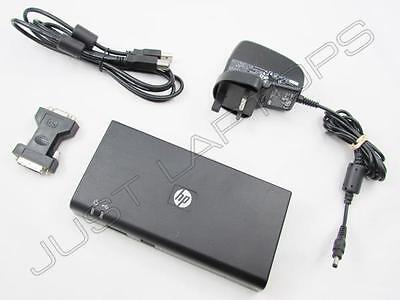 HP USB 2.0 Docking Station Port Replicator w/ DVI + PSU for Samsung Series 7 9
