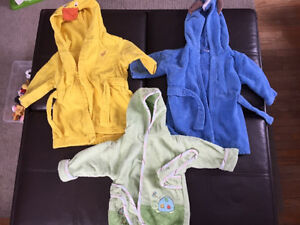Baby bath lots towels and house coats