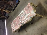Antique marble coffee table