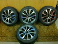 """17"""" alloys in mint condition new tyres fits audi vw seat skoda and many other makes"""
