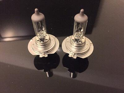 2x H7 Halogen 55W 12V Low/High Beam Headlight/Fog Light Bulbs OEM Clear 4300K